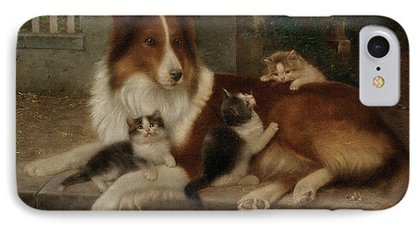 Best Of Friends Phone Case by Wilhelm Schwar