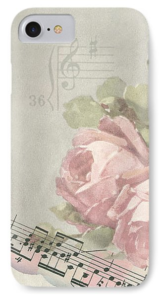 IPhone Case featuring the photograph Best Wishes Vintage Roses Card  by Sandra Foster