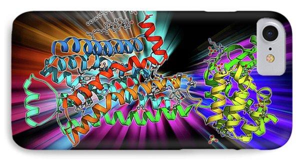 Beta-2 Adrenergic Receptor Molecule IPhone Case by Laguna Design