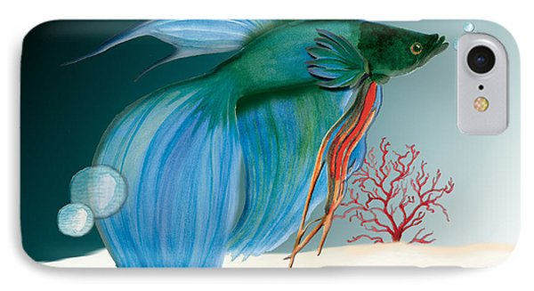 Beta Fish IPhone Case by Anne Beverley-Stamps