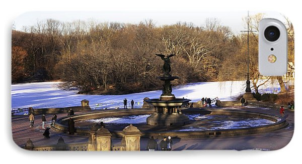Bethesda Fountain 2013 - Central Park - Nyc IPhone Case by Madeline Ellis