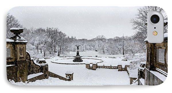 Bethesda Fountain In Central Park IPhone Case by Susan Candelario