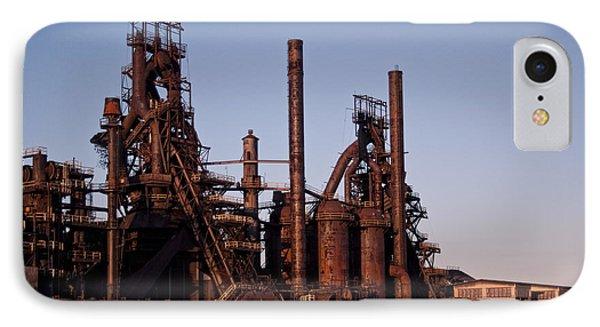 Bethlehem Steel At Sunset IPhone Case by Michael Dorn