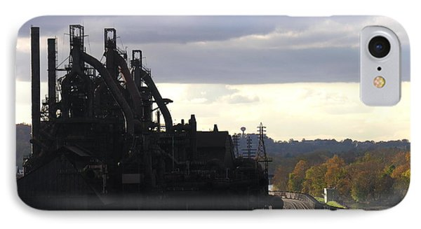 Bethlehem Steel On The Lehigh River IPhone Case by Jacqueline M Lewis