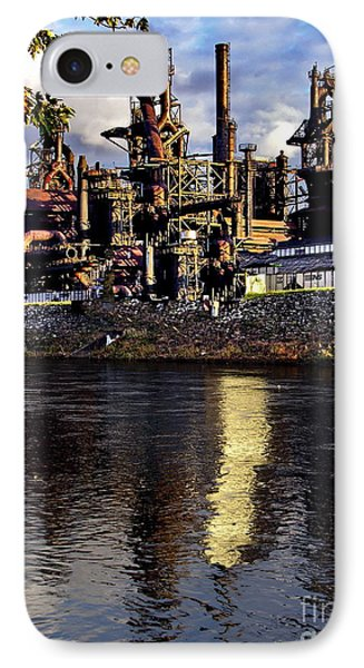 Bethlehem Steel Reflections Two IPhone Case by Jacqueline M Lewis