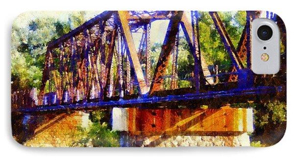 Train Trestle Bridge IPhone Case by Janine Riley