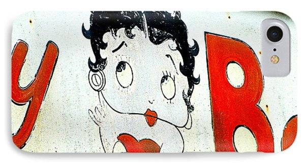 Betty Boop Herself IPhone Case by Kathy Barney
