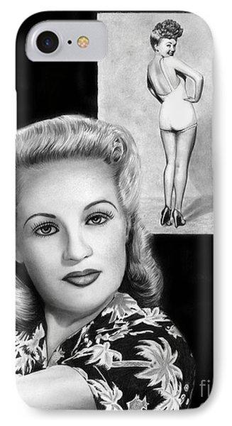 Betty Grable Phone Case by Peter Piatt