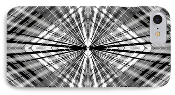 IPhone Case featuring the digital art Between Black And White by Brian Johnson