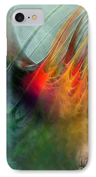 Between Heaven And Earth-abstract IPhone Case by Karin Kuhlmann
