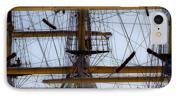 Between Masts And Ropes IPhone Case by Edgar Laureano