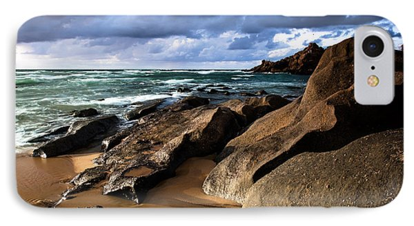 Between Rocks And Water IPhone Case by Edgar Laureano