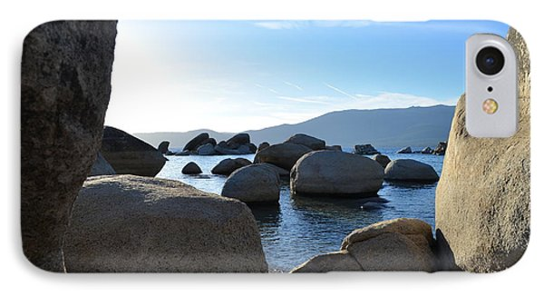 Between The Rocks At Lake Tahoe IPhone Case by Alex King