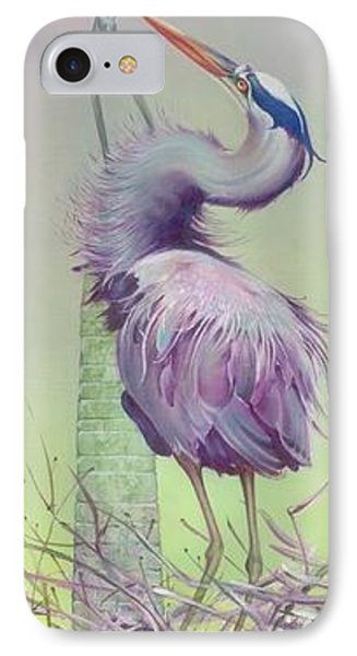 IPhone Case featuring the painting Between The Worlds by Anna Ewa Miarczynska