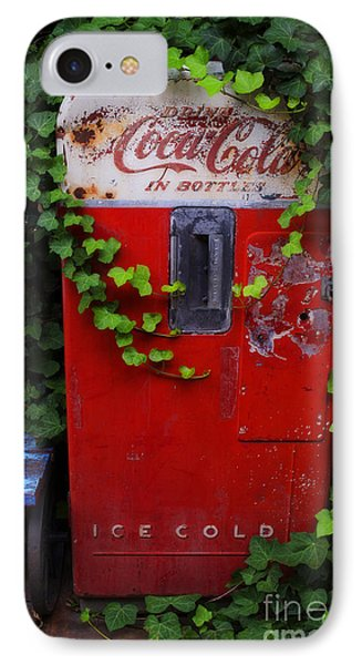 Austin Texas - Coca Cola Vending Machine - Luther Fine Art IPhone Case by Luther Fine Art