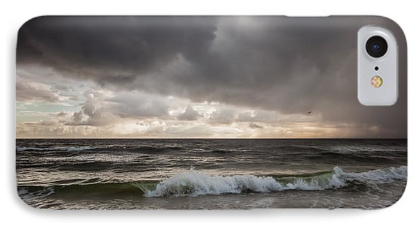 Beverly Beach Storm IPhone Case by Maria Robinson