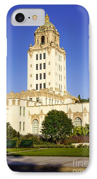 Beverly Hills iPhone 7 Case - Beverly Hills Police Station by Paul Velgos