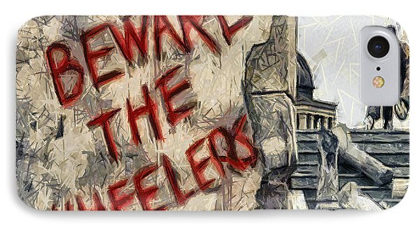 Beware The Wheelers IPhone Case by Joe Misrasi