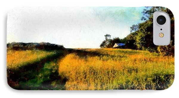 IPhone Case featuring the photograph Beyond The Hill  by Janine Riley