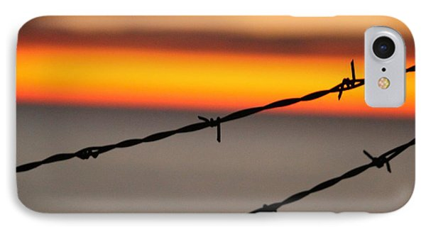 IPhone Case featuring the photograph Beyond The Wire by Amy Gallagher