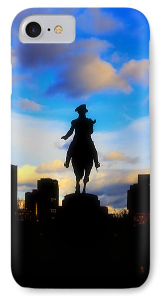 George Washington Statue - Boston IPhone Case by Joann Vitali