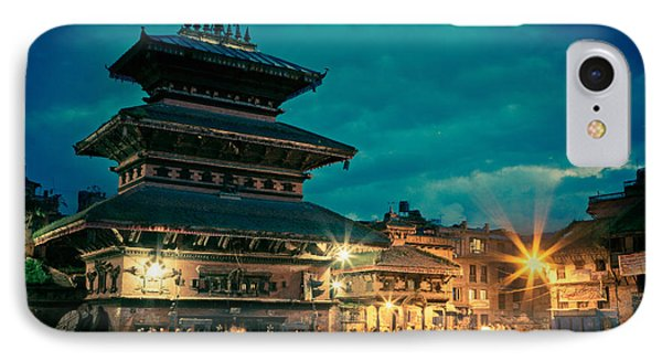 Bhaktapur At Night In Old Town Phone Case by Raimond Klavins