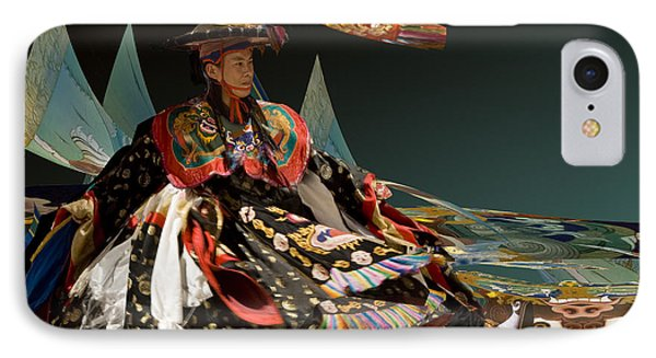 IPhone Case featuring the digital art Bhutanese Dancer by Angelika Drake