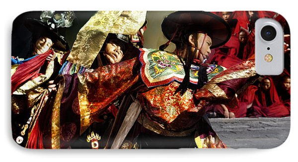 IPhone Case featuring the digital art Bhutanese Dancers by Angelika Drake