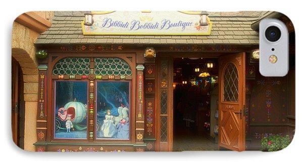 Bibbidi Bobbidi Boutique Fantasyland Disneyland IPhone Case by Thomas Woolworth