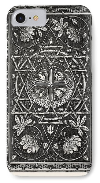 Bible Cover, In Metal, Harp Alley IPhone Case