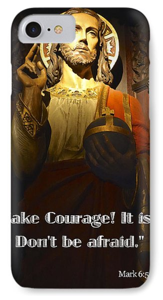 Bible Quote  Mark 6  50 IPhone Case by Joan Reese
