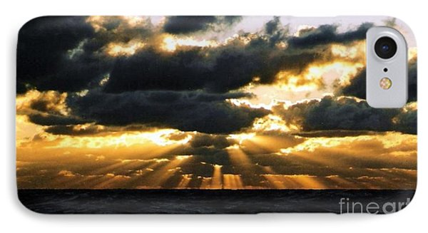 IPhone Case featuring the photograph Crespuscular Biblical Rays At Dusk In The Gulf Of Mexico by Michael Hoard