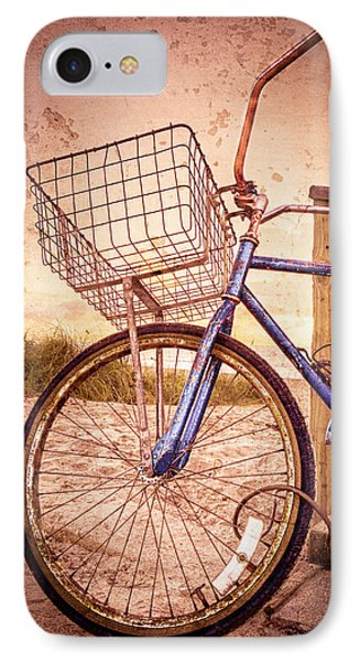 Bicycle At The Beach Phone Case by Debra and Dave Vanderlaan