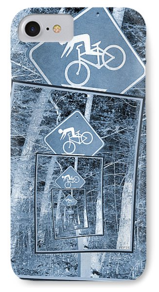 Bicycle Caution Traffic Sign IPhone Case