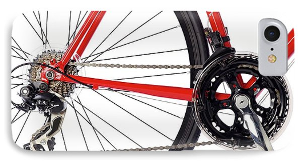 Bicycle Chain And Back Wheel IPhone Case by Science Photo Library