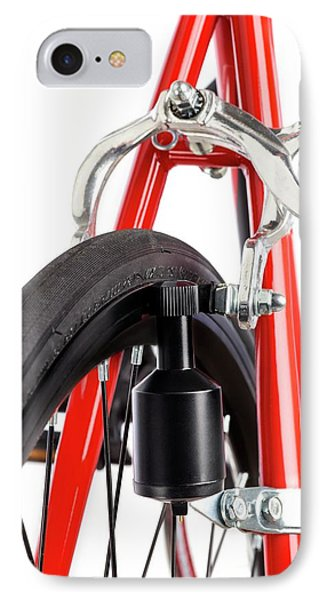 Bicycle Dynamo Fixed To Back Wheel IPhone Case by Science Photo Library
