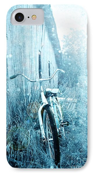 Bicycle In Blue IPhone Case
