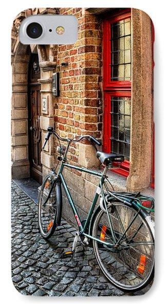 Bicycle In Bruges IPhone Case by Carol Japp