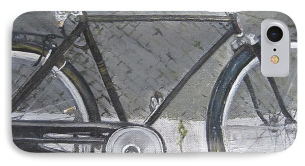 Bicycle In Rome IPhone Case by Claudia Goodell