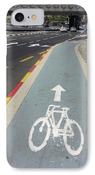 Bicycle Lane In Jerusalem IPhone Case