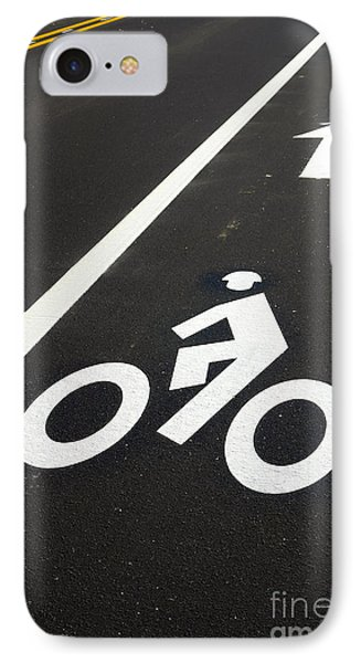 Bicycle Lane IPhone Case by Olivier Le Queinec