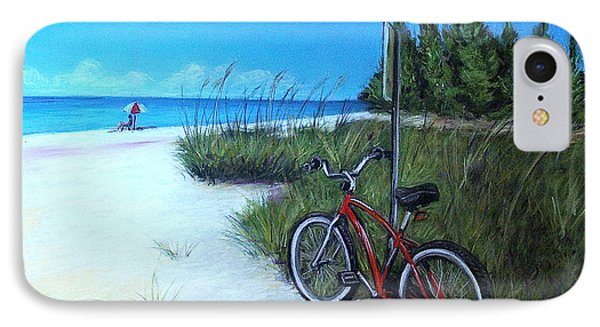 Bicycle On Sanibel Beach IPhone Case by Melinda Saminski