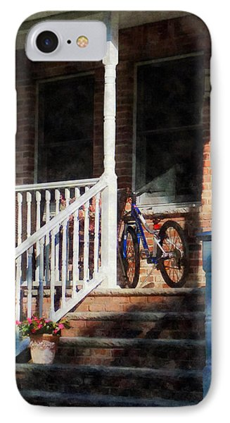 Bicycle On Porch Phone Case by Susan Savad