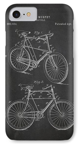 Bicycle Patent IPhone Case by Aged Pixel