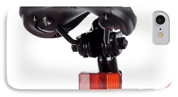 Bicycle Saddle And Reflector IPhone Case by Science Photo Library