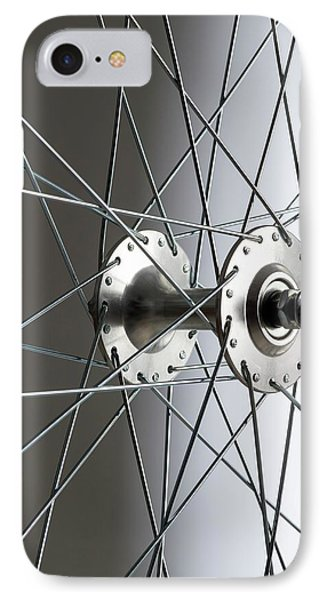 Bicycle Wheel Hub IPhone Case by Science Photo Library