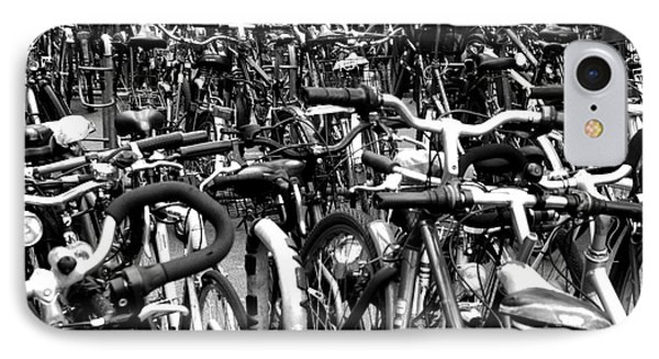 IPhone Case featuring the photograph Sea Of Bicycles- Karlsruhe Germany by Joey Agbayani
