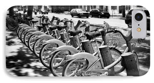 Bicycles - Velib Station - Paris IPhone Case by Nikolyn McDonald