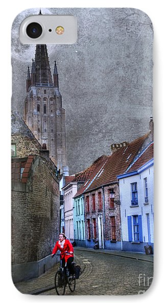 Bicycling Through Bruges Phone Case by Juli Scalzi