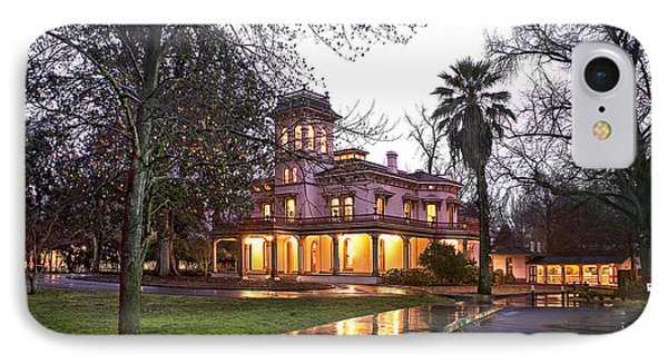 Bidwell Mansion In The Rain  IPhone Case